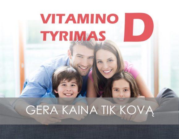 vitamino d tyrimas akcija